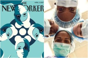 Female surgeons are posing like this New Yorker cover